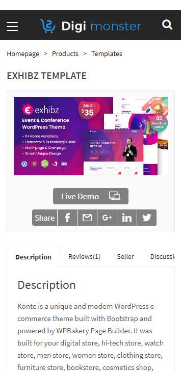 Themeforest digital marketplace