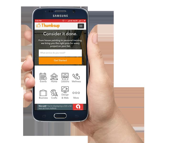 Thumbtack android app