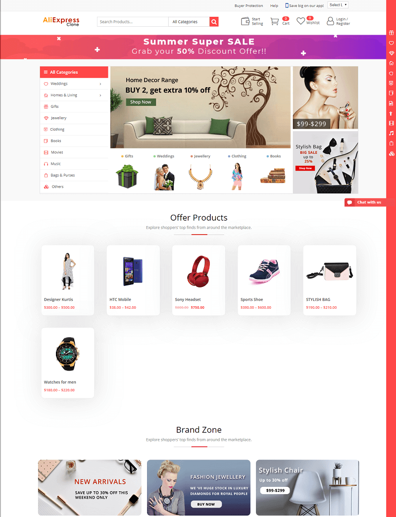 Aliexpress Clone Aliexpress clone WordPress theme