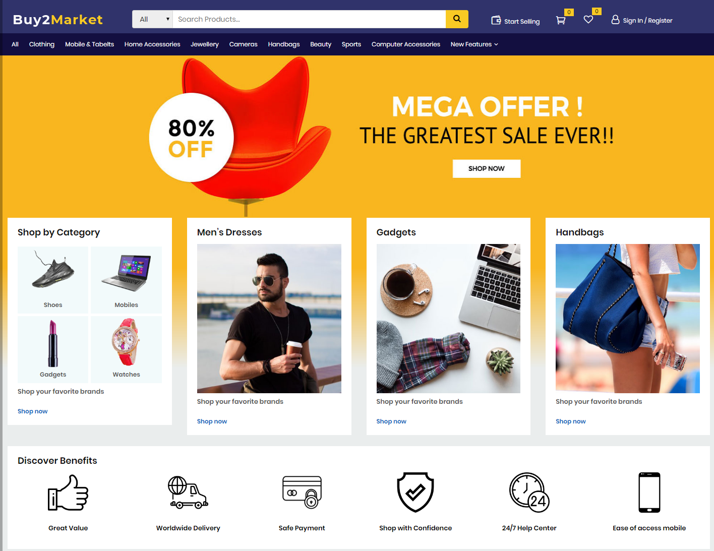multi vendor marketplace wordpress theme - buy2maket