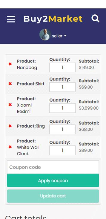 Amazon clone cart