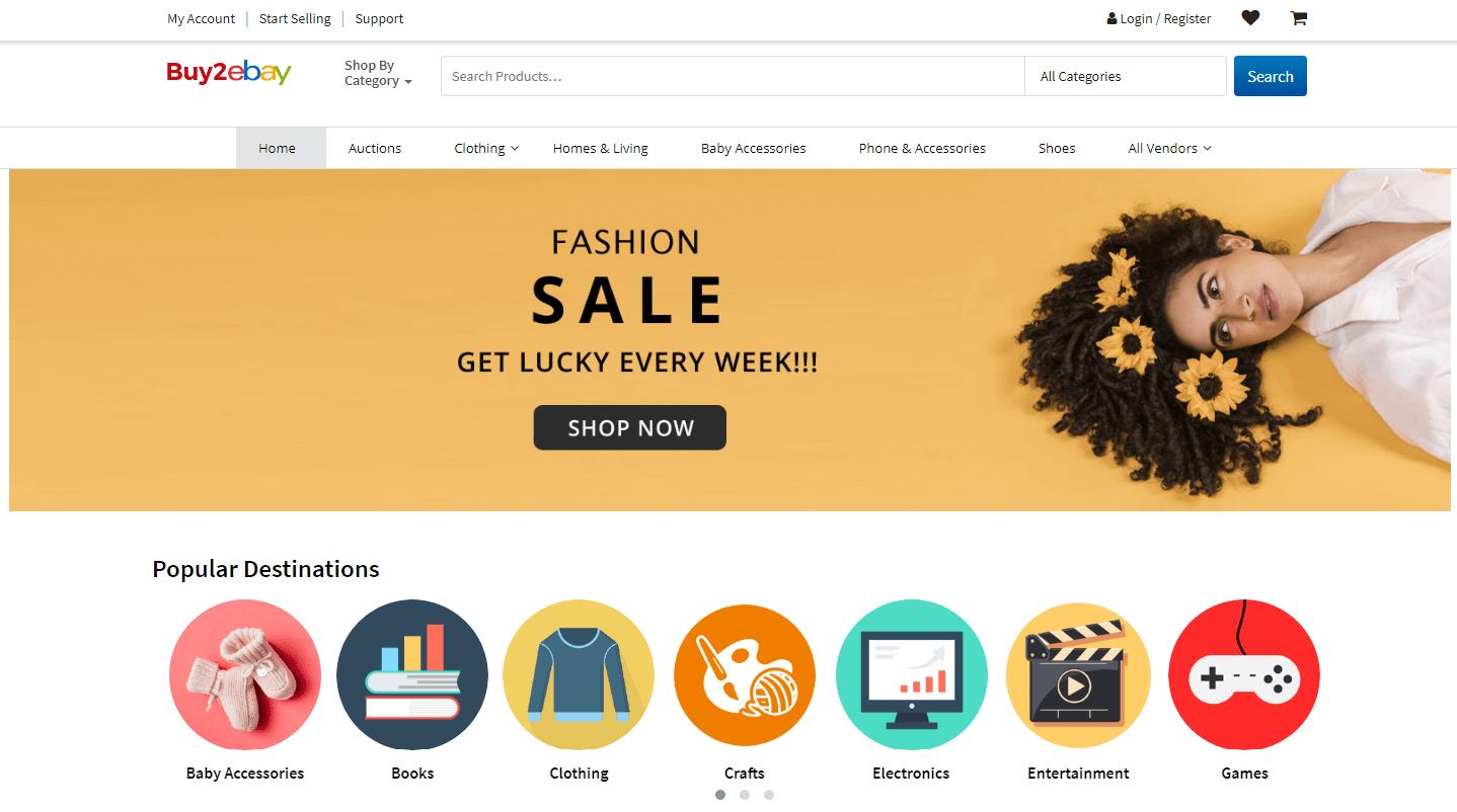 Buy2Ebay - ebay clone-script