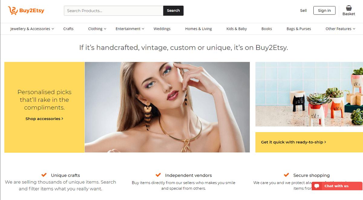 Buy2Etsy – Etsy Clone