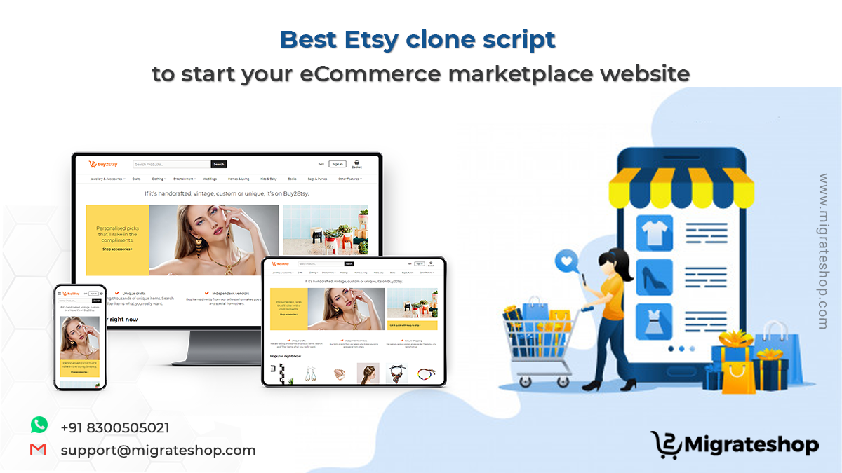 Best Etsy clone script to start your eCommerce marketplace website