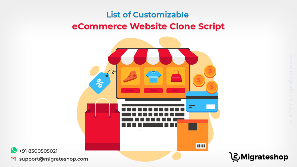 List of Customizable eCommerce Website Clone Script