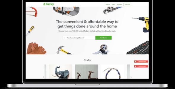 Tasky service marketplace script